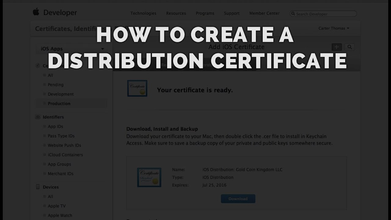 How To Create A Certificate For Publishing Ios Apps Bluecloud