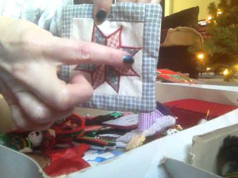 VERY RELAXING - PUTTING AWAY XMAS ORNAMENTS, NICE SOUNDS, HAND MOVEMENTS,  SOFT SPOKEN