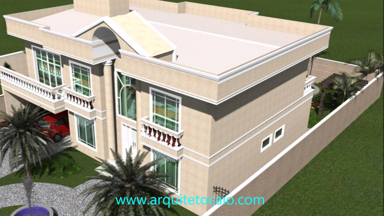 Projeto casas classica fachada neoclassica arquitetura for Casa moderna classica
