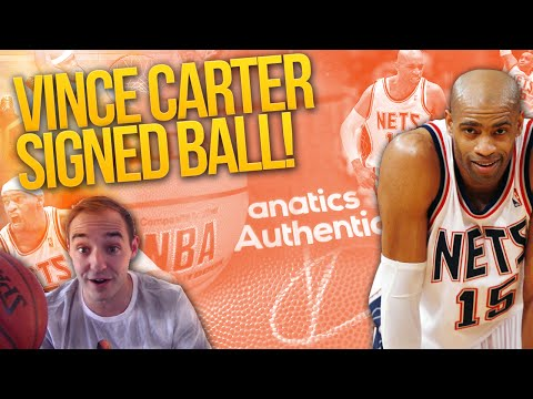 SIGNED VINCE CARTER BASKETBALL UNBOXING! SUPER CHEAP STEAL!