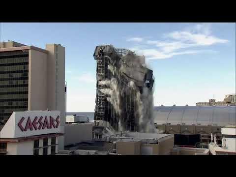Watch Donald Trump's former Atlantic City casino get demolished