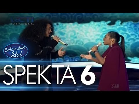 CHANDRA ft. MARIA - MENGEJAR MATAHARI (Ari Lasso) - Spekta Show Top 10 - Indonesian Idol 2018