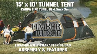 15' x 10' Tunnel Tent - Features & Setup