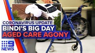 Gambar cover Coronavirus: Bindi Irwin marries partner, Aged care visits | Nine News Australia