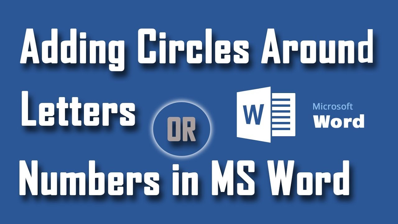 How to Add Circle Outside of Any Character in MS Word