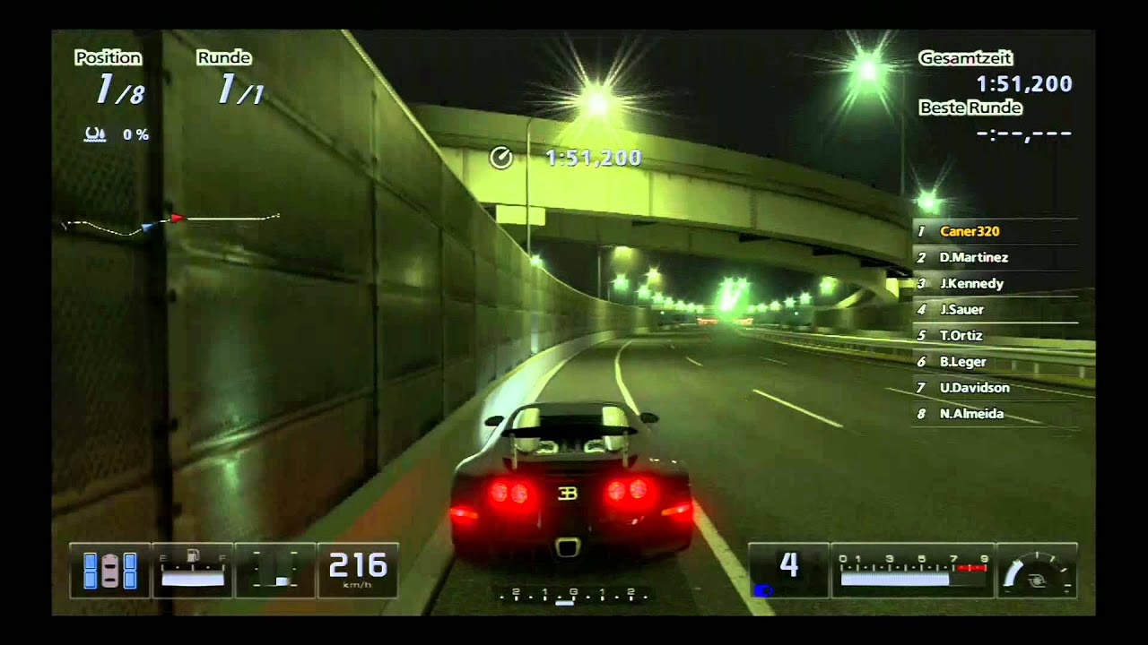 gran turismo 5 ps3 bugatti veyron 16 4 youtube. Black Bedroom Furniture Sets. Home Design Ideas