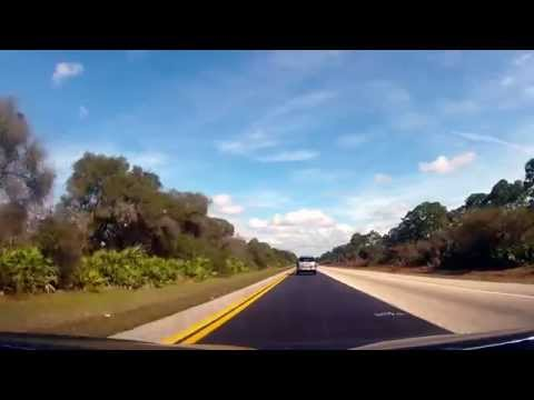 Driving on Interstate 75 from Sarasota to North Fort Myers, FL