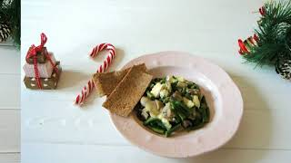Vegetarian Winter Dishes: Creamy mushrooms and vegetables
