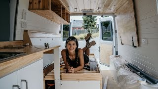 How we converted a SPRINTER into a CAMPERVAN in 30 days | The Wandering Wagners thumbnail