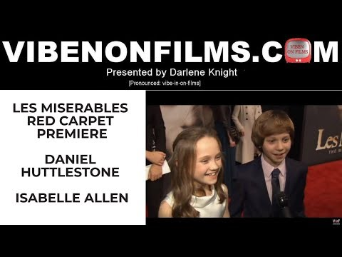 LES Miserables Red Carpet Premiere: Daniel Huttlestone and Isabelle Allen
