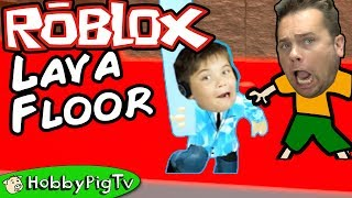Roblox LAVA FLOOR Challenge + Big Survival Prison Break Battle Challenge HobbyPigTV