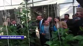 بالفيديو والصور .. وزير القوى العاملة ورئيس جامعة بنها يتفقدان المشاتل الزراعية بمشتهر