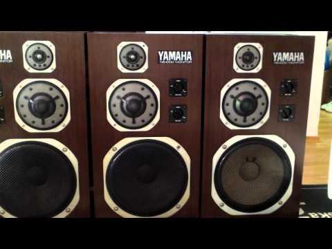 Yamaha NS 1000 Monitor 4 speakers - YouTube