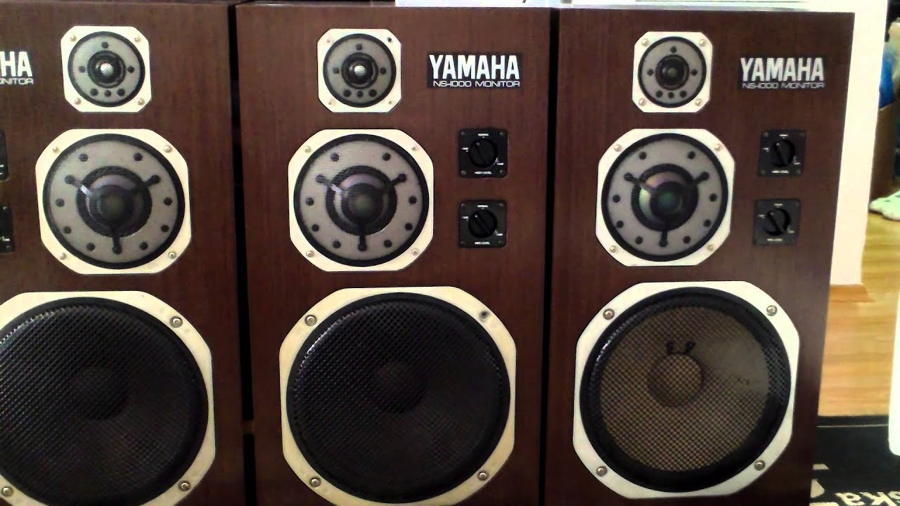 Yamaha ns 1000 monitor 4 speakers youtube for Garage yamaha paris