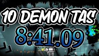 [TAS] 10 Demon Speedrun | 8:41.09 (Geometry Dash 2.1)