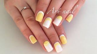 Обратный Лунный Маникюр! Обратный Французский Маникюр!  Дизайн Ногтей! Nail Art Designs