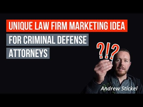 (2018) Marketing for Criminal Defense Lawyers: Use This Idea to Get Clients Right Away