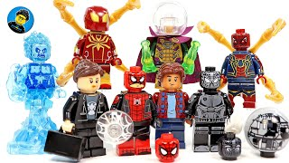 Spider-Man Far From Home Set 3 w/ Hydro-Man & Mysterio Unofficial LEGO Minifigures