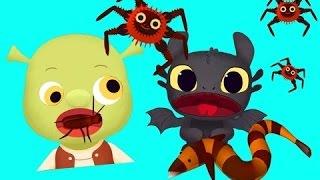 Play Fun Shrek & Friends Kids Games   Wake Up, Teeth Brush, Feed with Heroes Cha