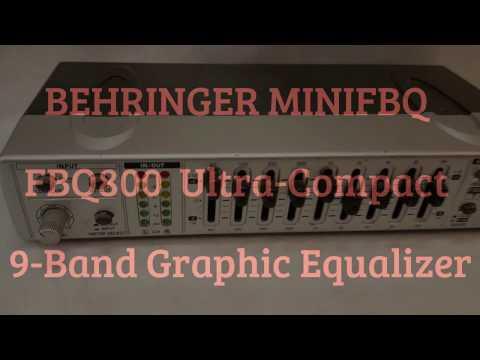 Behringer MiniFBQ FBQ800U Compact 9 Band Graphic Equalizer A