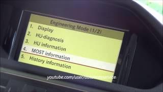 How To: Mercedes COMAND Online NTG 4.5 display GPS-Speed / GPS Geschwindigkeit anzeigen