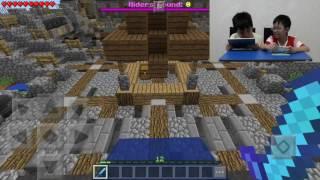 Minecraft PE Indonesia | Main Petak Umpet & Block Party with Titi