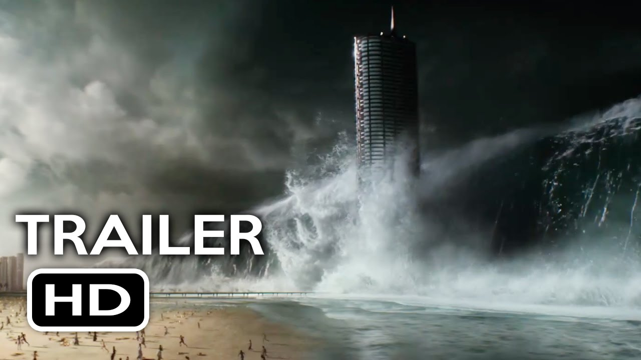 3d Tsunami Wallpapers Geostorm Trailer 1 2017 Gerard Butler Action Movie Hd