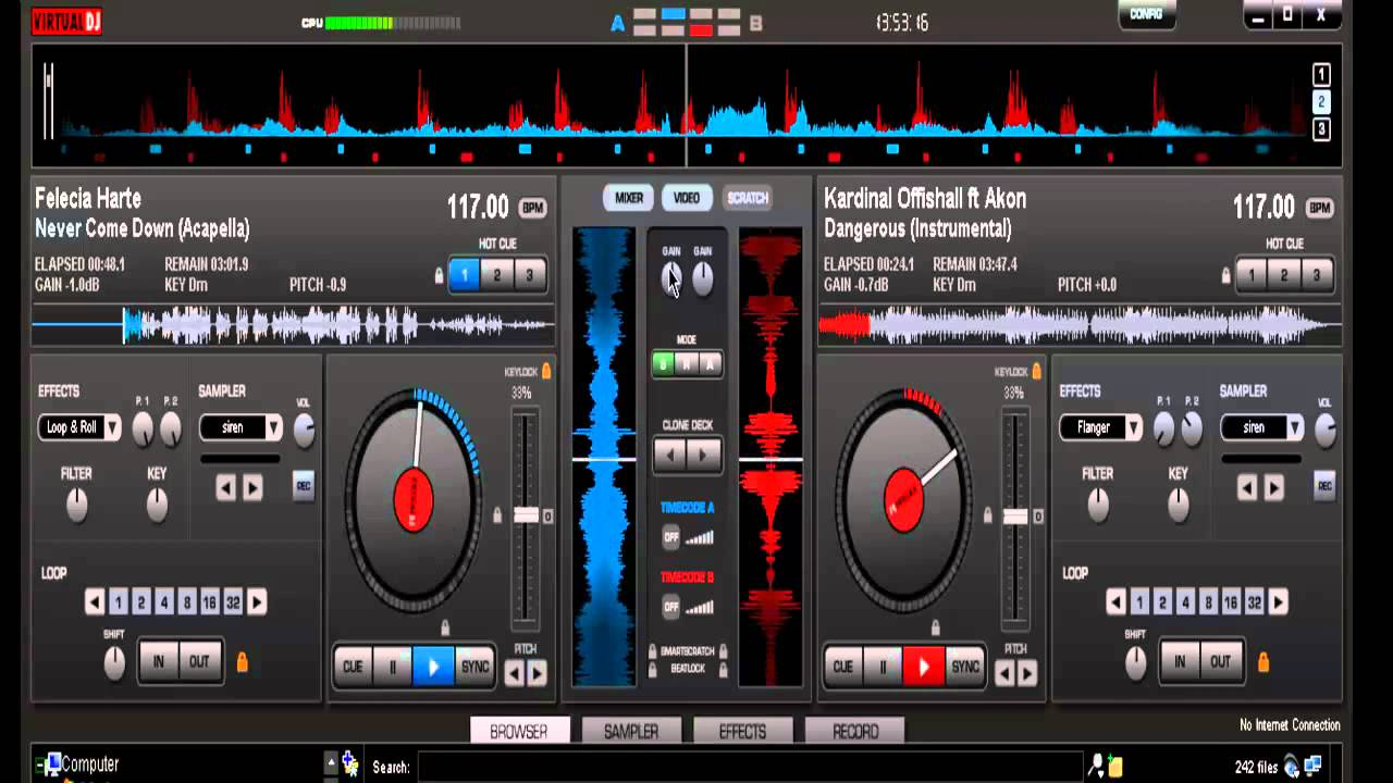 how to find the key of a song virtual dj