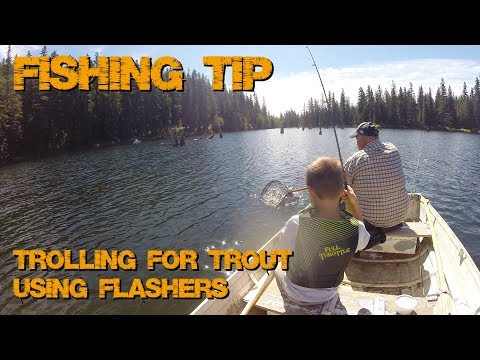 Trolling With Flashers For Trout - Fishing Tip