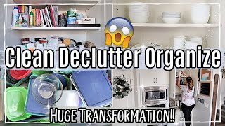 2020 KITCHEN CLEAN DECLUTTER & ORGANIZE WITH ME | PART 1 :: KONMARI & DECLUTTERING TRANSFORMATION