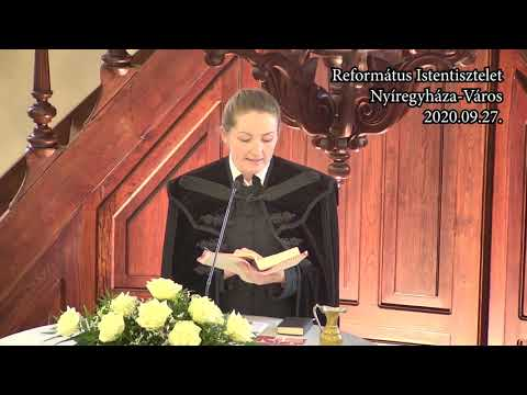 Istentisztelet NyVREk 2020.09.27 10:30 felvétel