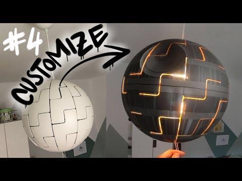 Custom Ikea Death Star Lamp Ps 2014 4 Graffcember Youtube