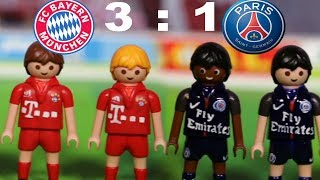⚽BAYERN MÜNCHEN-PARIS SAINT GERMAIN 3:1 - HIGHLIGHTS FUSSBALL CHAMPIONSLEAGUE Playmobil Stop Motion