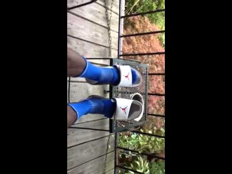 6e4d78352f35bf Nike elite socks an slides - YouTube