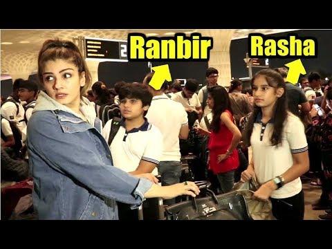 Raveena Tandon With Her Son Ranbir And Daughter Rasha