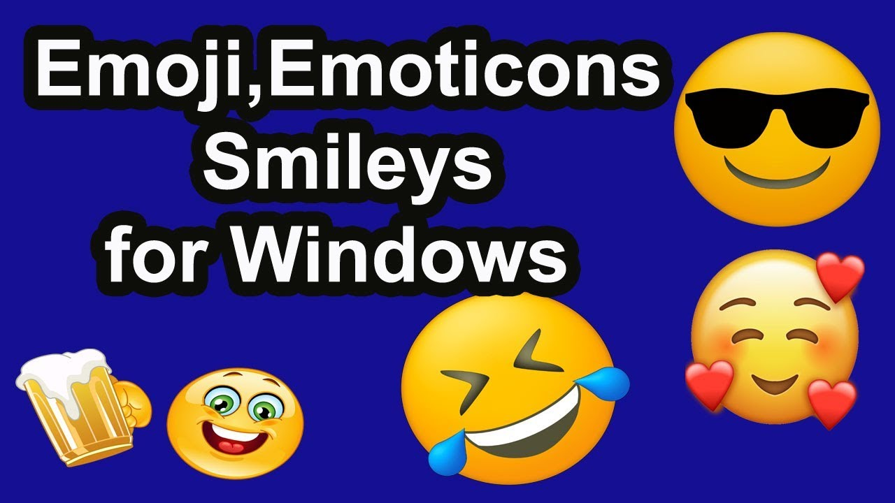 How To Make Emoji, Emoticons, Smileys for Windows 7,8 or 10। EraIT