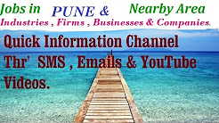 Jobs in PUNE  for Freshers & graduates. Industries,  companies.