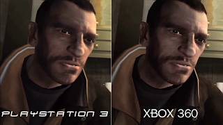 Grand Theft Auto IV Comparison PS3 VS Xbox 360 (HD)
