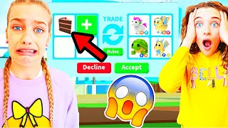 ONLY TRADING FOOD items in ADOPT ME Roblox Gaming w/ The Norris Nuts