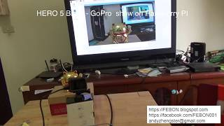 GoPro HERO 5 Black show on Raspberry PI with FEBON168 HDMI captrue card