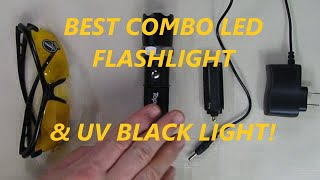 Toprohomie Combination Flashlight and  UV Blacklight with Zoomable Design