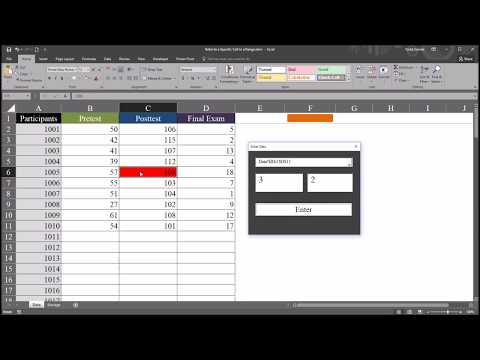 Select A Specified Cell From A Range Using Excel VBA