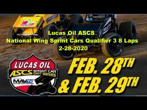 ASCs wing sprints qualifier 3 canyon speedway park 2-28-2020