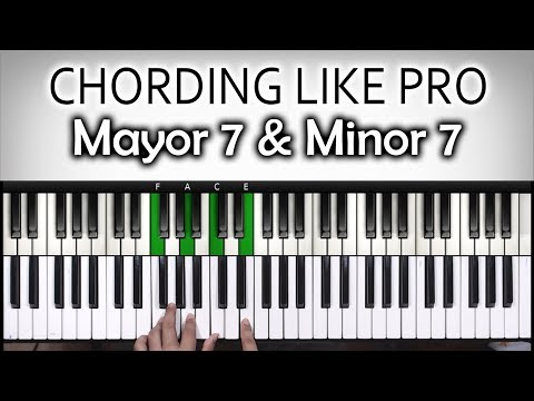 Chord chord Keren #1 | Mayor 7& minor 7 | Belajar Piano Keyboard