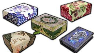TOP 5 IDEAS FOR DECOUPAGE BOX / DIY