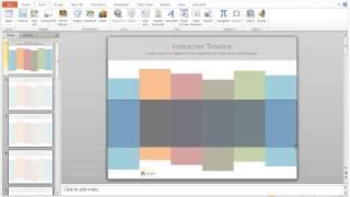 Comment Créer une frise chronologique Interactive dans Powerpoint