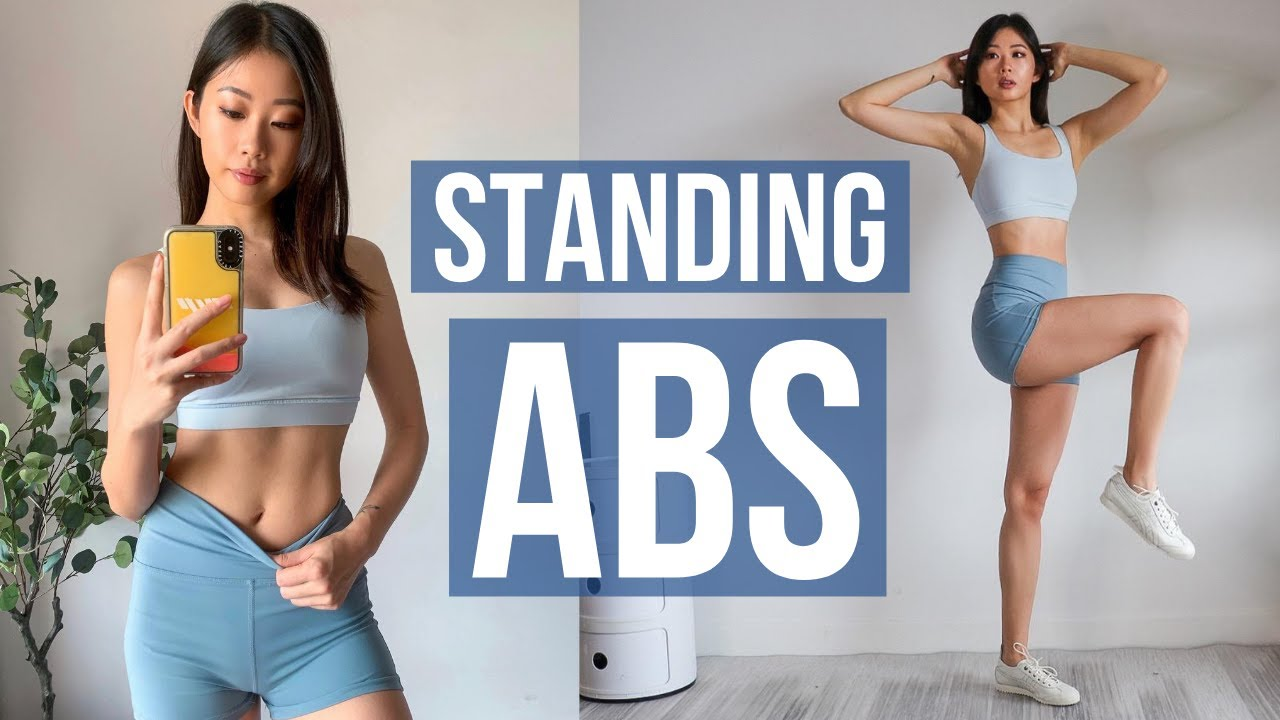 10 MIN STANDING ABS WORKOUT | Get Ab Lines & Slim Waist ~ Emi