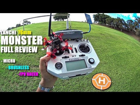 LANCHI MONSTER 😈 76mm Micro FPV Race Drone - Full Review - [Unbox, Flight/CRASH! Test, Pros & Cons]
