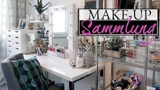 XXL MAKE UP SAMMLUNG U0026 AUFBEWAHRUNG 2017 😍 Mein Schminktisch