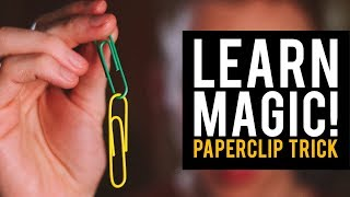 Learn a Magic Trick You Can Do At Home! Linking Paperclips Magic Trick!